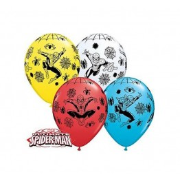 Balony Qualatex-Spiderman 4 sztuki