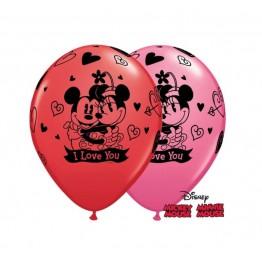 Balony Qualatex-Miki i Minni 2 sztuki