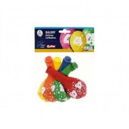 Balony z nadrukiem Czwórka (5 sztuk)