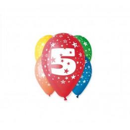 Balony z nadrukiem Piątka (5 sztuk)