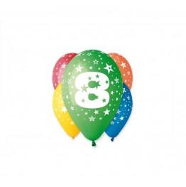 Balony z nadrukiem Ósemka (5 sztuk)