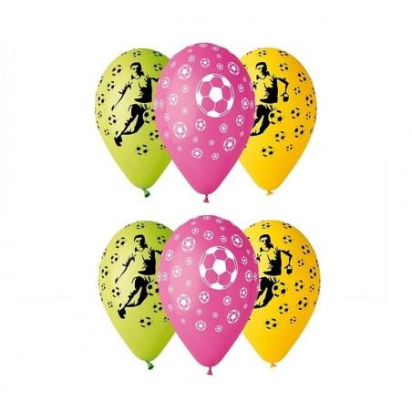 Balony z nadrukiem Piłkarz i piłki nożne (25 sztuk)