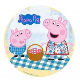 Opłatek na tort Świnka Peppa-Nr 12-21cm