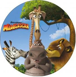 Opłatek na tort Madagaskar-8-21cm