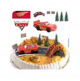 Zestaw urodzinowy na tort Auta-Zygzak