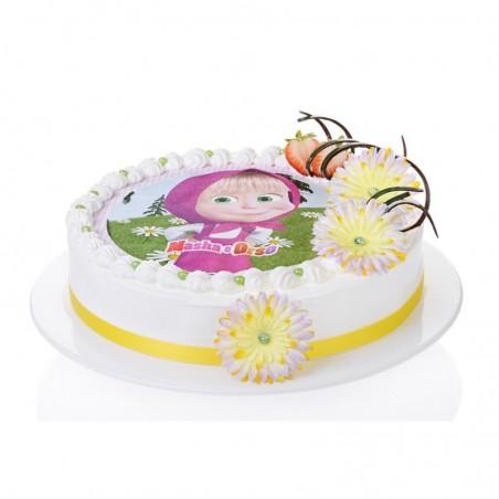 Opłatek na tort Masha i Orso-1-21cm