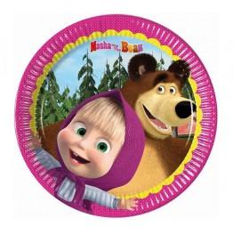 Talerzyki papierowe-Masha and Bear-19