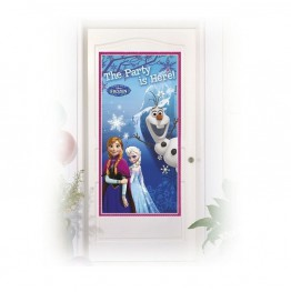 Banner urodzinowy na drzwi Frozen-76x152cm