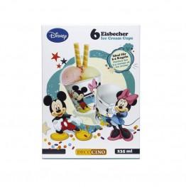 Kubki do lodów Myszka Miki-6 sztuk