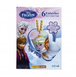 Kubki do lodów Frozen-6 sztuk
