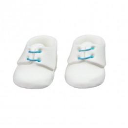 Para bucików na chrzest niebiesko-biała-Natalia