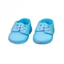 Para bucików na chrzest niebieska-Natalia
