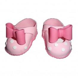 Para bucików na chrzest różowa-Dekor Pol