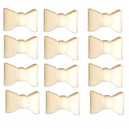 Kokardy małe białe na chrzest 12 sztuk-Dekor Pol