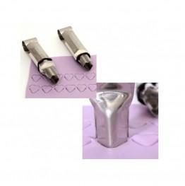 Szczypce metalowe dekoratorskie Modecor-Serca-2 sztuki