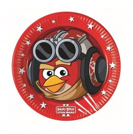 Talerzyki papierowe-Angry Birds-23cm 8 sztuk