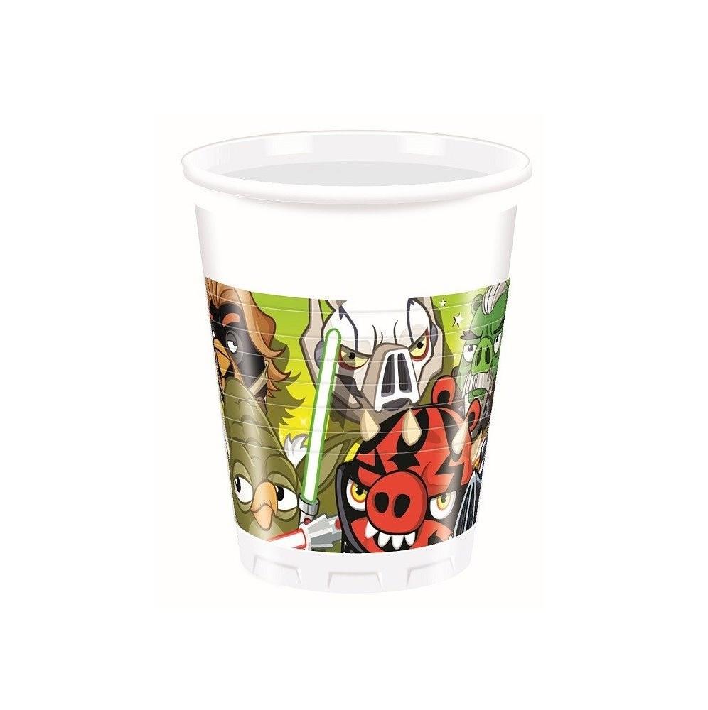 Kubeczki plastikowe Angry Birds-8 sztuk