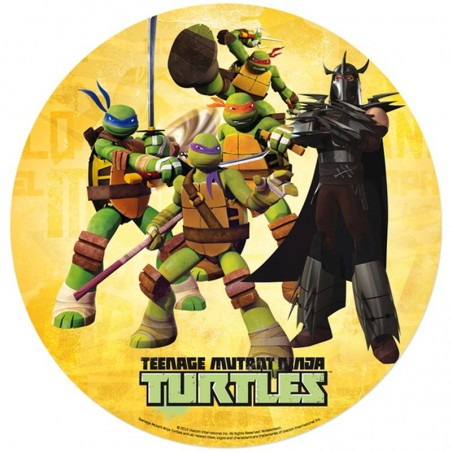 Opłatek na tort Żółwie Ninja-1-20cm