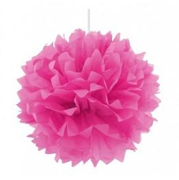 Pompon dekoracyjny Różowy ciemny-40 cm