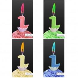 Świeczka cyferka z kolorowym płomieniem-2