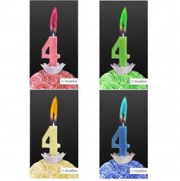 Świeczka cyferka z kolorowym płomieniem-4