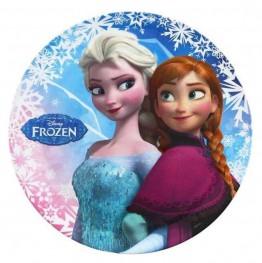 Talerzyk z melaminy-Frozen-Anna i Elsa