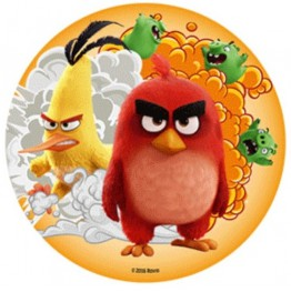 Opłatek na tort Angry Birds-Nr 6-21cm