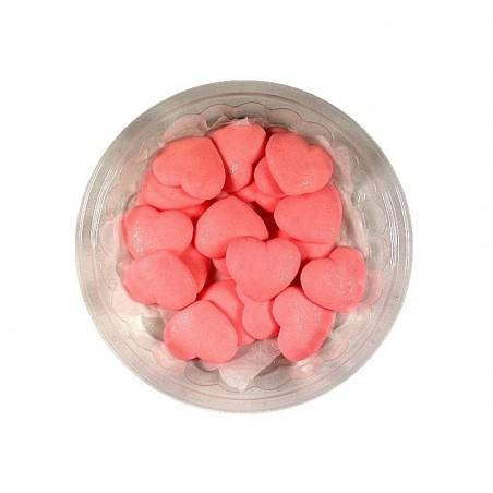 Serduszka różowe z cukru-20 sztuk