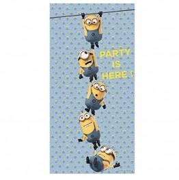 Banner urodzinowy na drzwi Minionki-75x150cm