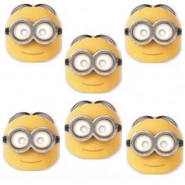 Maski Minionki-6 sztuk