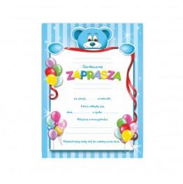 Zaproszenie Na Urodziny Chłopczyka 10 Sztuk