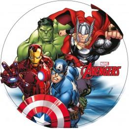 Opłatek na tort Avengers-Nr 10-21cm