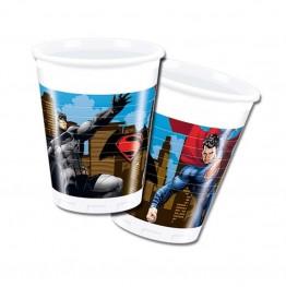 Kubeczki plastikowe Batman i Superman-8 sztuk