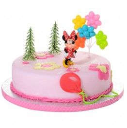 Zestaw urodzinowy na tort Myszka Minni-Modecor