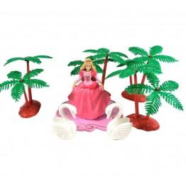 Zestaw na tort dla dzieci-Księżniczka z łabędziami