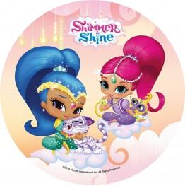 Opłatek na tort Shimmer&Shine-Nr 1-20cm