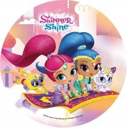Opłatek na tort Shimmer&Shine-Nr 3-20cm