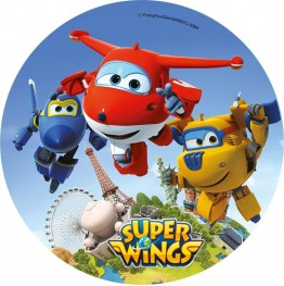 Opłatek na tort Super Wings-Nr 1-20cm
