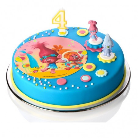 Figurka na tort Trolle-Modecor-z cukru