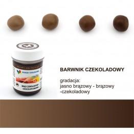 Barwnik Food Colours w żelu brąz czekoladowy 35g