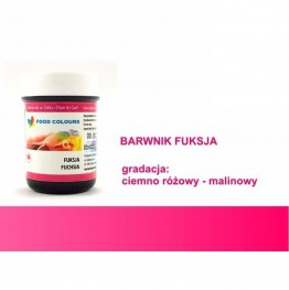 Barwnik Food Colours w żelu fuksja 35g