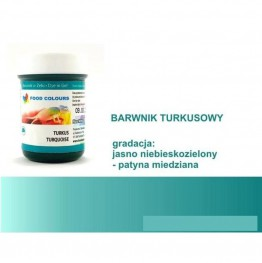 Barwnik Food Colours w żelu turkusowy 35g