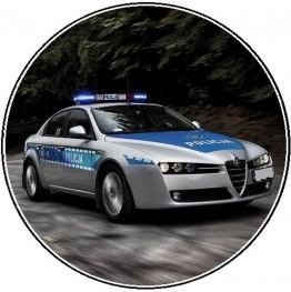 Opłatek na tort Policja-1-20cm