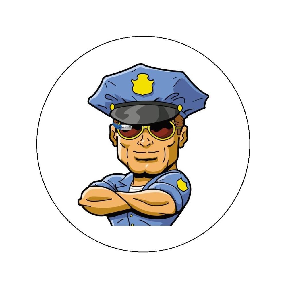 Opłatek na tort Policja-2-20cm