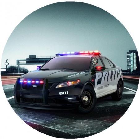 Opłatek na tort Policja-3-20cm