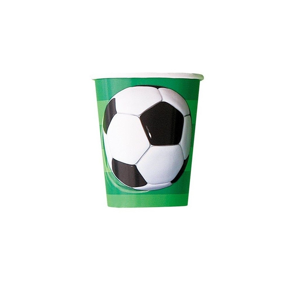 Kubeczki papierowe Football-8 sztuk