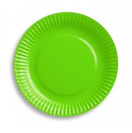 Talerzyki urodzinowe zielone-6 sztuk-18cm