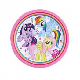 Talerzyki papierowe-Pony-18cm 8 sztuk