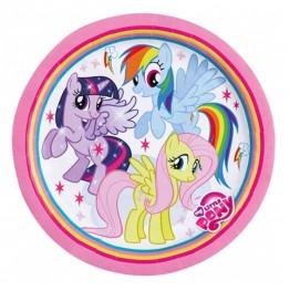 Talerzyki papierowe-Pony-23cm 8 sztuk