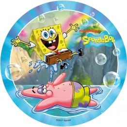 Opłatek na tort SpongeBob-Nr 6-21cm
